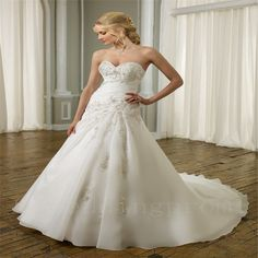 2016+A-Line+Wedding+Dress+Appliques+White+Backless+Fashionable+Cheap+Floor+Length+Wedding+Dress