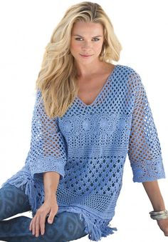 Just Cool It: Lace and Crochet Plus Size Tops and Dresses