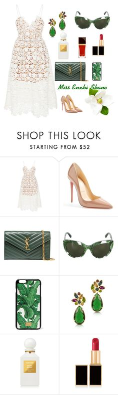 """""""Miss Enxhi Shane"""" by enxhi-shane on Polyvore featuring self-portrait, Christian Louboutin, Yves Saint Laurent, Dolce&Gabbana, Forzieri and Tom Ford"""