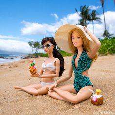 64.5 тыс. отметок «Нравится», 1,000 комментариев — Barbie® (@barbiestyle) в Instagram: «Aloha! Enjoying our first taste of paradise. 🍍 #barbie #barbiestyle»
