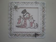 Stampendous stamp coloured with shades of Grey and Pink.(Craftyhearts)