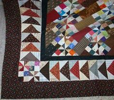 How to figure the math to put a pieced block border onto the sides and bottom of a quilt by Bonnie Hunter. Great advice!!