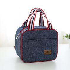 Cooler bags denim insulation handbag fresh food milk fruit package - FREE SHIPPING