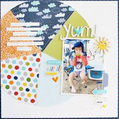 Bella Blvd Let's Go & Sweet Sweet Spring collections. Yum layout by creative team member Gail Lindner.