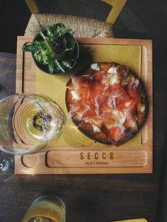 Mozzarella and culatello mezzopane