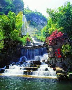 Zhangjiajie waterfall, China