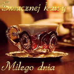 Wiersze,Gify Na Dzień Dobry ...: Gify na dzien dobry - herbata , kawa Coffee Time, Tea Time, Flower Art, Class Ring, Tea Cups, Mugs, Tableware, Humor, Messages