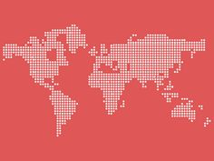 Vector dotted world map #psd #vector #map