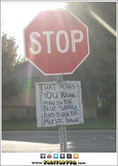 """Passive aggressive stop """"sign""""  #funny #humor"""