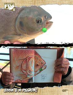 NA PEGADA DO FLY: 5ª TEMPORADA - EPISÓDIO 14 NA BATIDA DO FLY NOS PACUS  Kid Ocelos vai até a Argentina em busca do redondo pacu. Para fisgá-lo, ele vai utilizar uma isca artificial que imita o coquinho e simula sua caída na batida. Ele vai mostrar belos exemplares desse peixe super forte.  Confira o episódio aqui: http://fii.sh/FlyPacusArgentina