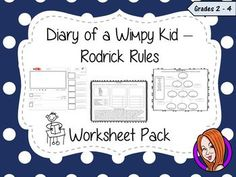 This download includes a worksheet pack to be used with the book, The Diary of a Wimpy Kid: Rodrick Rules. There are lots of activities included separated into three sections, pre-read activities, during reading and after reading activities. This download includes:Pre-read sheets:- Workbook cover page- Book predictions sheet - Story ideas mind-mapsDuring reading sheets:- Nouns, verbs & adjectives sheet- Poetry sheet- Chapter illustrations sheet- Character drawings sheet- Character family ...
