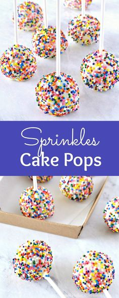 Learn how to make Birthday Cake Pops with Sprinkles! These Sprinkles Cake Pops a. Learn how to make Birthday Cake Pops with Sprinkles! These Sprinkles Cake Pops are easy to make and Make Birthday Cake, Adult Birthday Cakes, Birthday Cake Decorating, Birthday Treats, Birthday Cupcakes, Birthday Parties, Birthday Wishes, Birthday Bash, Fruit Birthday