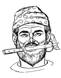 Dibujos para Colorear. Dibujos para Pintar. Dibujos para imprimir y colorear online. Piratas 4
