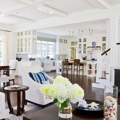 this whole layout and decor is just a dream.  Love all the natural light... aaawwwwhhhh