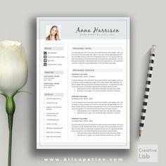 @allcupation Creative Resume Template, Cover Letter, Word, Modern Simple Teacher…