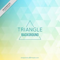Colored triangles background Free Vector