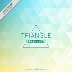 着色された三角形の背景 無料ベクター