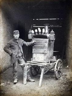 Vendedor de patatas asadas. Londres, 1890.