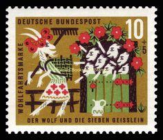 1963 Grimms' Fairy Tales Märchen der Brüder Grimm (V) 10+5 Pf Michel 408 MNH** - Emerald Books and Stamps