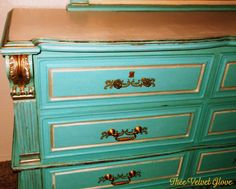 Antique Marble Top Dresser with Hidden Drawer Marble top
