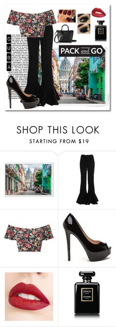 """PACK AND GO: CUBA"" by xcxin ❤ liked on Polyvore featuring Miss Selfridge, Jouer, Chanel and Mark & Graham"