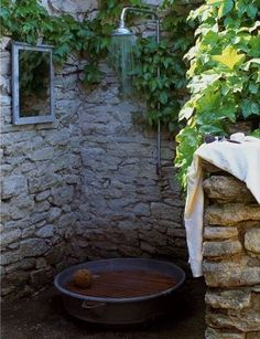 the outdoor shower. - the outdoor shower. I love outdoor showers!