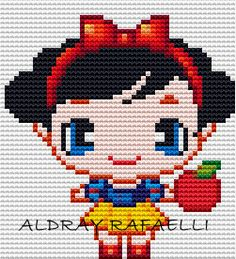 Snow White perler bead pattern by Drayzinha