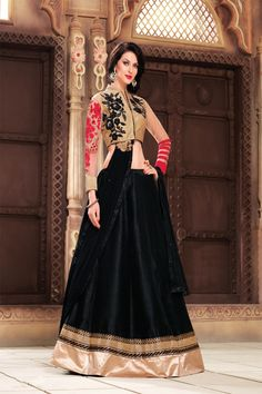 Trendy Black Designer Lehenga Choli
