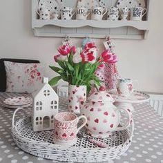 """""""Rose & Bee"""" Rose & Bee Cake Stand at Emma Bridgewater Afternoon Tea Set, Bee Cakes, Emma Bridgewater, Lampshades, Country Kitchen, Tea Time, Shabby Chic, Cushions, Tea Sets"""