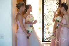 Happy bride, happy bridesmaids…beautiful bouquets! #CaboFlowersandCakes