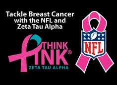 Zeta Tau Alpha is partnered with the NFL. Each year we are honored to pass out ribbons to spread the word of tackling Breast Cancer through education and awareness!
