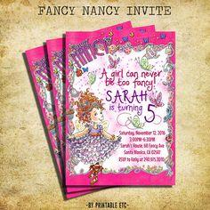 Free fancy nancy birthday party invitation template a free fancy nancy birthday invitation fancy nancy by printableetc filmwisefo