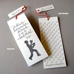 LETTERPRESS BOOKMARK  Where is human nature so by tagteamtompkins, $6.00