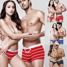 Lovers Cotton Underwear Mens Boxer Shorts Briefs Women Panties Knickers Thong