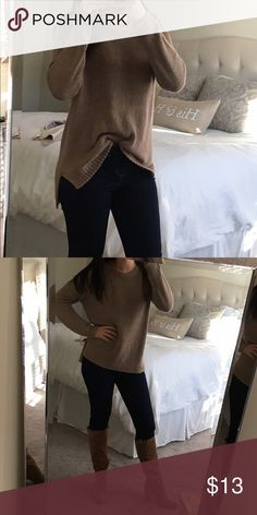 Women's brown sweater size M Women's brown sweater size M, only worn a handful of times perfect condition! Forever 21 Sweaters