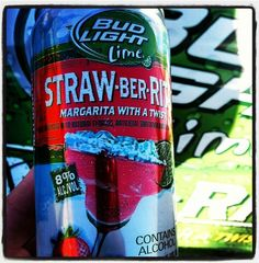 Bud Light Straw-Ber-Rita coming Spring 2013. Yummy these looks great!