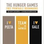 The Hunger Games Bookmarks {Free Printables}