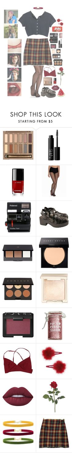 """One direction school//8 👄✨"" by rosita562 ❤ liked on Polyvore featuring Urban Decay, NARS Cosmetics, Chanel, DIM, Polaroid, Windsor Smith, H&M, Bobbi Brown Cosmetics, Elizabeth Mott and Jouer"