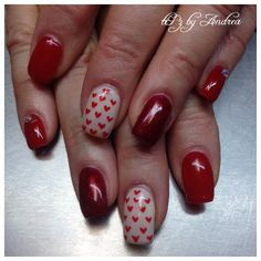 Valentines day nails  tiPz by Andrea Medicine Hat Alberta