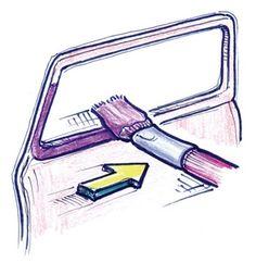 Painting window trim   Scale Auto Magazine