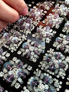 Square beads and sequins design