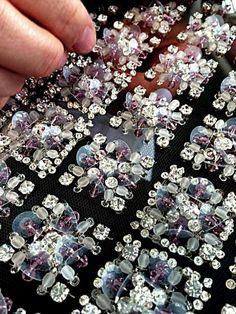 Tambour And Zardosi Embroidery Zardosi Embroidery, Tambour Embroidery, Bead Embroidery Patterns, Couture Embroidery, Embroidery Fashion, Hand Embroidery Designs, Ribbon Embroidery, Beaded Embroidery, Couture Beading