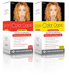 before and after with oops hair color remover | Hair ...