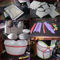 The first thing I did to build my armor was cutting the craftfoam piece into pattern that I created. Once I cut all the foam pattern out, its all about . Dragonball Z Saiyan Princess Armor Progress Part 1 Cosplay Weapons, Cosplay Armor, Epic Cosplay, Comic Con Cosplay, Cosplay Diy, Amazing Cosplay, Diy Costumes, Cosplay Costumes, Costume Ideas