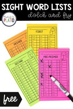 Sight Word Lists Kindergarten Literacy, Literacy Centers, Preschool Activities, Sight Words List, Sight Word Games, Wise Eyes, High Frequency Words, 2nd Grade Reading, Homeschool