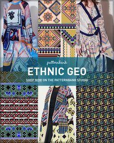 Ethnic Geo AW1718 – Hand Curated Seasonal Trend Theme on the Patternbank Studio