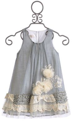 Isobella and Chloe Girls Vicky Grey A-Line Dress Little Dresses, Little Girl Dresses, Cute Dresses, Dress Girl, Vintage Baby Dresses, Little Girl Fashion, Fashion Kids, Grey Fashion, Fashion Fashion