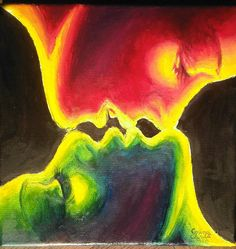 The kiss Painting by Chirila Corina - The kiss Fine Art Prints and .