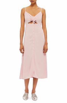 Main Image - Topshop Knot Front Slipdress