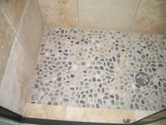 (bathroom) pebble shower bottom